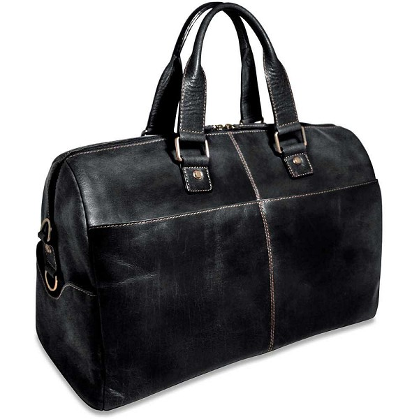 Jack Georges Voyager Leather Duffle Bag  7318 4e78ba676da66