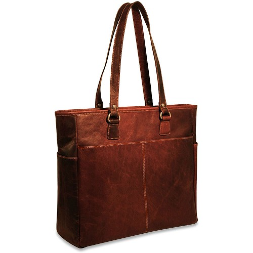 Jack Georges Voyager Large Travel Tote #7929 handmade in hand-stained buffalo.