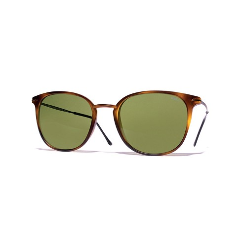 Helios 04932S Cal.50 Unisex Rectangle Sunglasses handmade with Havana Frame and Green optical glass HHG High Quality Polarized Mineral Lens.