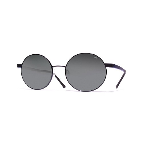 Helios 10634S Cal.52 Women's Round Sunglasses handmade with metal frame in Aubergine. Grey optical glass HHG High Quality Polarized Mineral Lens.