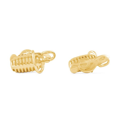 Montegrappa Microphone Cufflinks in 18kt Gold with diamond golf ball.