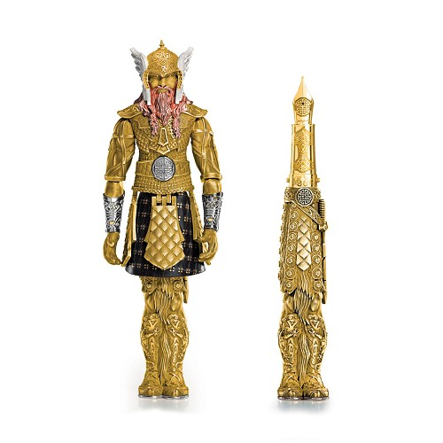 "Montegrappa Viking ""action figure"" fountain pen in solid yellow gold with 18k rose gold and yellow gold touches."