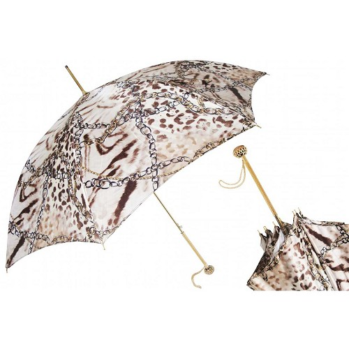 Pasotti Jeweled Women's Umbrella with Brass handle.