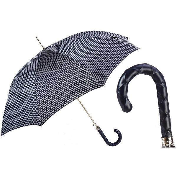 90b42f20f Pasotti Men's Bespoke Black Jacquard Geometric Design Umbrella ...