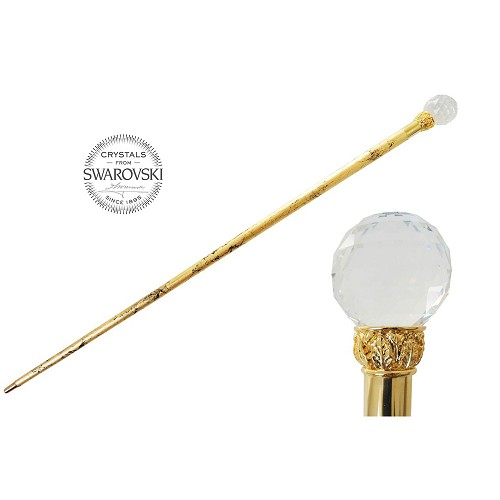 Walking cane handmade with Swarovski® Crystal Ball handle and gold shaft.