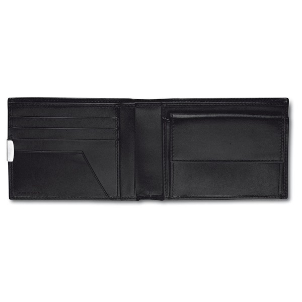 Pineider 1949 Men's Bi-fold Leather Wallet with Coin Pocket