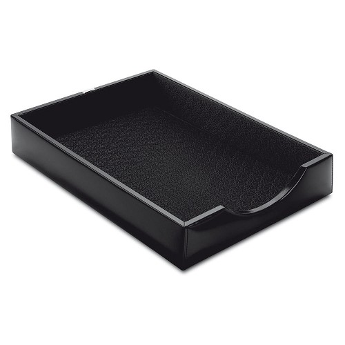 Pineider 1949 Leather A4 Sheet Holder Desk Tray in clasic Italian calfskin.