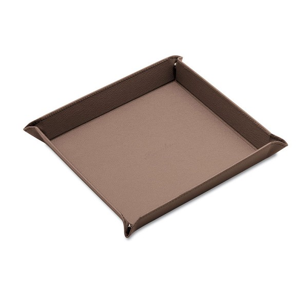 Pineider City Chic Leather Valet Tray - Square - Large