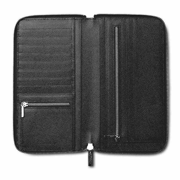 Pineider City Chic Leather Travel Document Case with Zip Around
