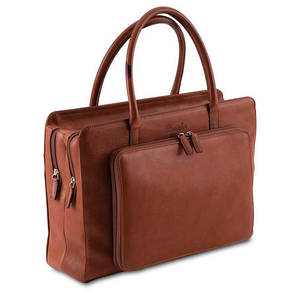 Pineider Country Leather Women's Briefcase - 2 Interior Compartments