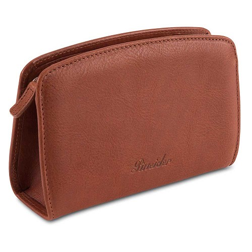 Pineider Country Leather Make Up Purse