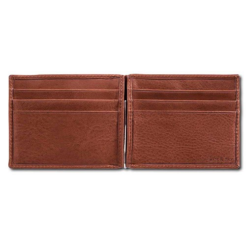 Pineider Country Leather Men's Monoclip Money Clip Wallet