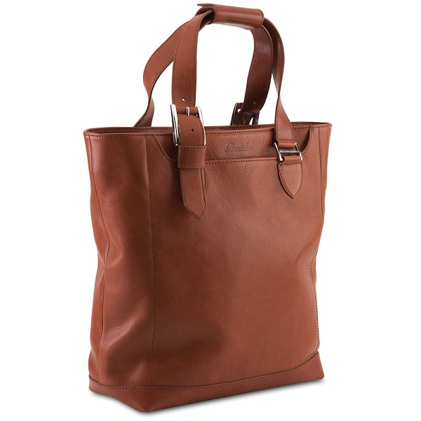 Pineider Country Leather Shopping Bag