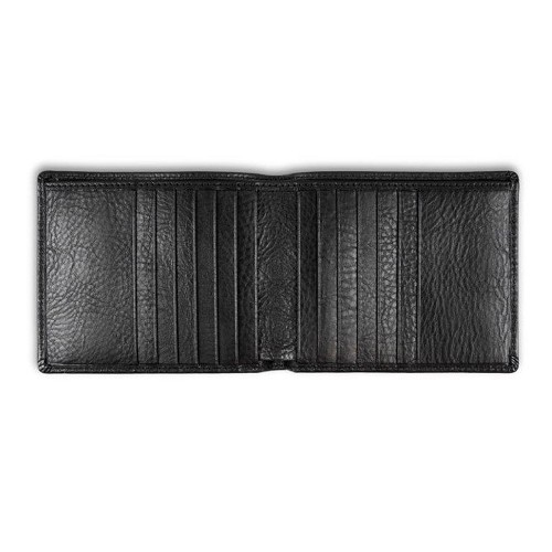 Pineider Country Leather Bi-Fold Wallet - 12 Credit Card in Black.