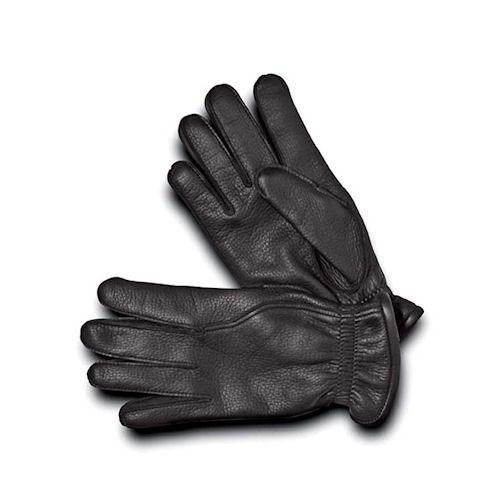 3c8acb7ddea4 Pineider Men s Leather Gloves - Black Deerskin with Cashmere