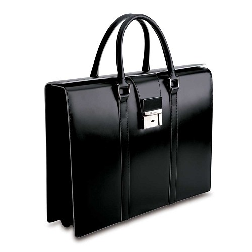 Optical Women's Briefcase with signature white tanned borders.