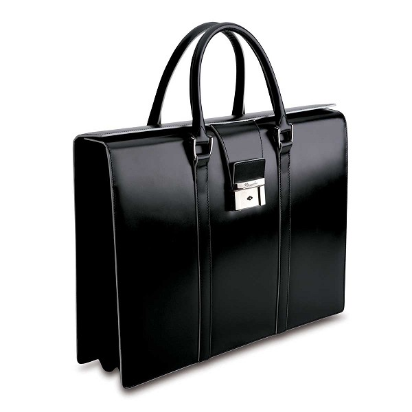Pineider Optical Women s Leather Briefcase - Two Gusset 0f65f2971c