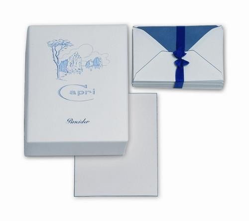 Plain straight cut cards and sheets. Tissue-paper lined envelopes.