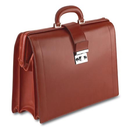 The Pineider Power Elegance Leather Diplomatic Briefcase is a world class handmade luxury briefbag in a supple leather with palladium hardware. Personalize as desired.