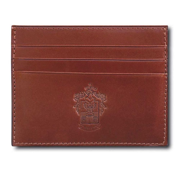 Pineider Power Elegance Leather Flat Business and Credit Card Holder