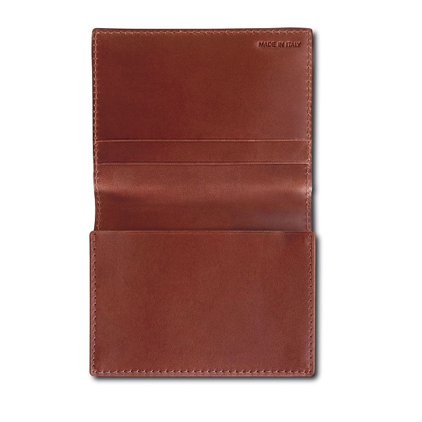 Pineider Power Elegance Leather Business Card Wallet Holder with Flap