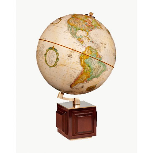 "Four Square Globe with 12"" diameter and Antique ocean."