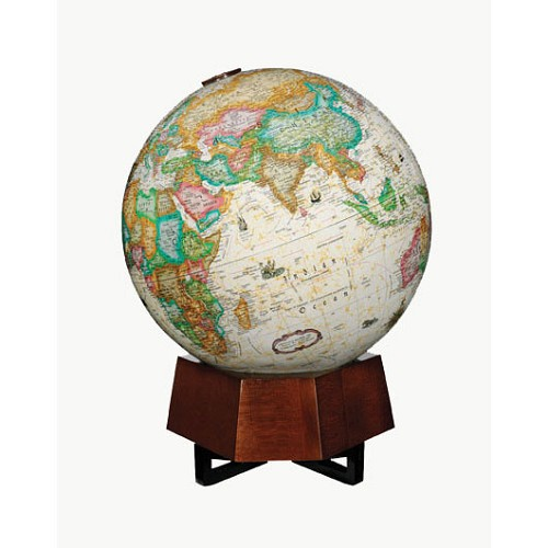 "Beth Shalom Globe with 12"" diameter and Antique ocean."
