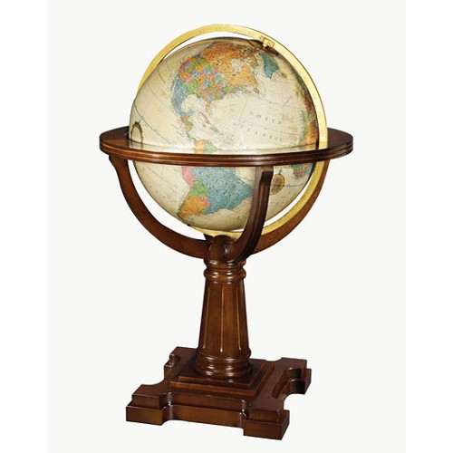 "Annapolis 20"" Floor Globe with dark walnut stand is a limited edition of 500."