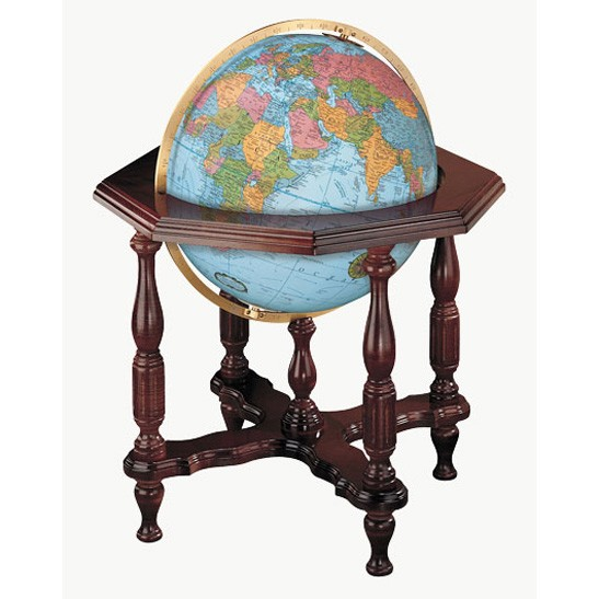 Replogle Statesman Illuminated World Floor Globe - Blue Ocean