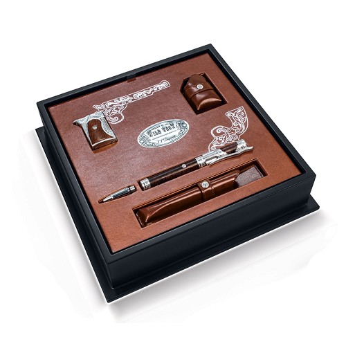 Conquest of Wild Wild West Writing Set with luxurious Neoclassic Pen and Lighter.
