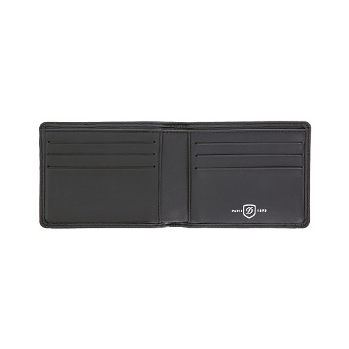 Defi Millienium 6 Credit Card Men's Bifold Wallet handmade in Black Cowhide leather.