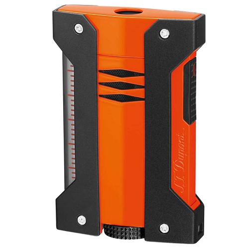 S.T. Dupont Extreme Defi Lighter in orange with matt black protective jacket.