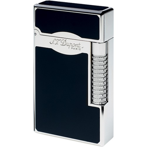 Le Grand S. T. Dupont Lighter with black natural lacquer and palladium finish.