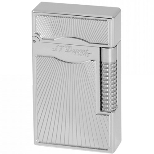 Le Grand S. T. Dupont Dancing Flame Lighter with palladium goldsmith guilloche finish.