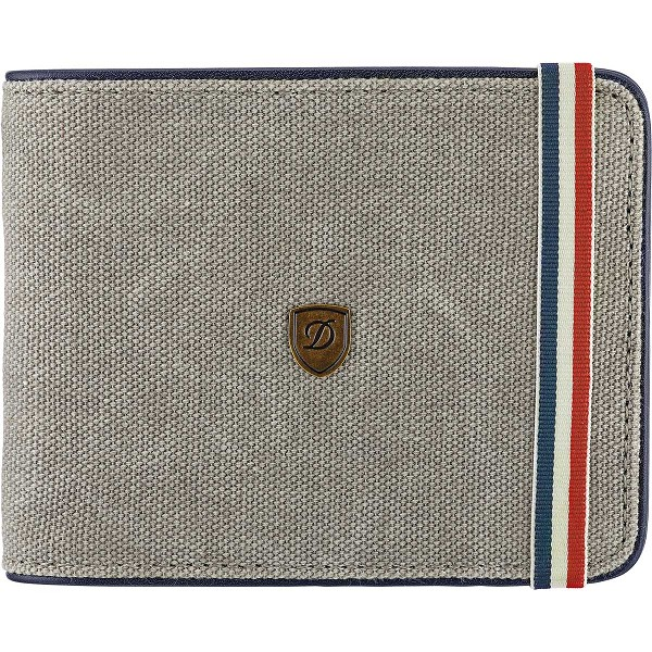 ST Dupont Iconic 6 CC Billfold Men's Wallet - Gray Canvas / Blue Leather