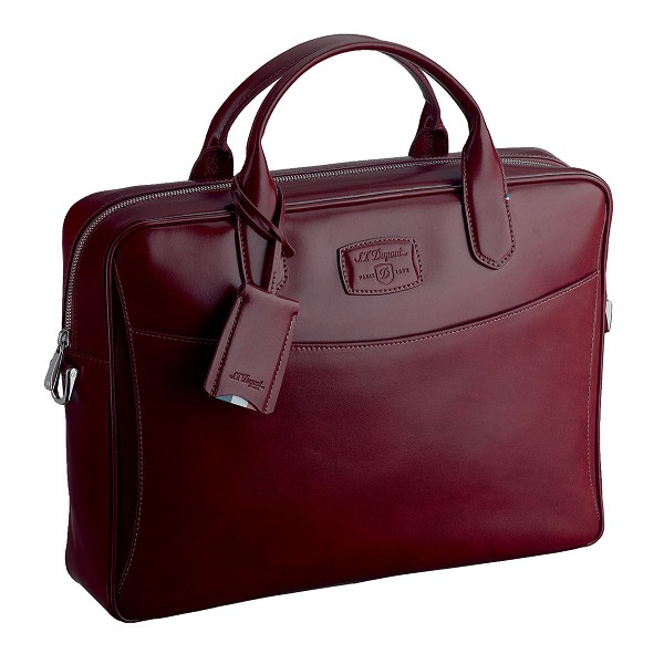 ST Dupont Line D Cherry Red Leather Document Holder Bag