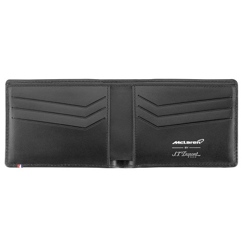 Limited edition ST Dupont McLaren 6 Credit Card wallet is used by Jenson Button and Fernando Alonso.