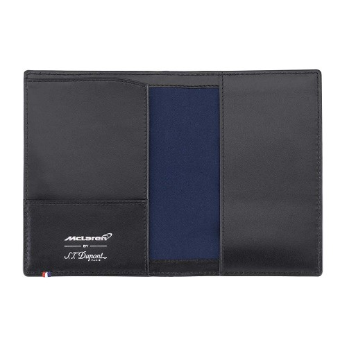 Limited edition ST Dupont McLaren Passport Cover is used by Jenson Button and Fernando Alonso.