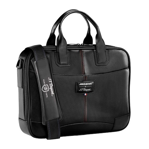 Limited edition ST Dupont McLaren Laptop Bag and Document Holder is used by Jenson Button and Fernando Alonso.