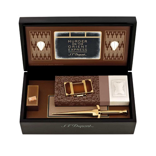 ST Dupont Murder On The Orient Express Ligne 2 Lighter & Paper Cutter in train cabin gift box.