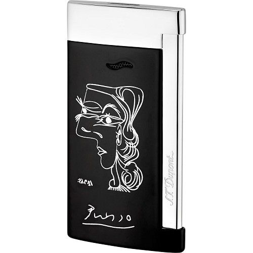 ST Dupont Pablo Picasso Slim 7 Lighter features the Profil de femme line drawing