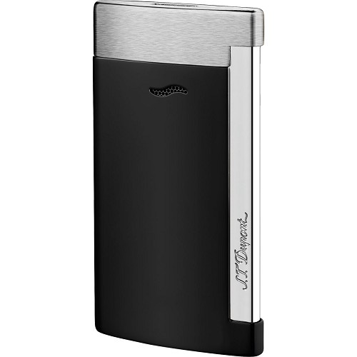 ST Dupont Slim 7 Lighter with Matte Black and Brushed Chrome finish.