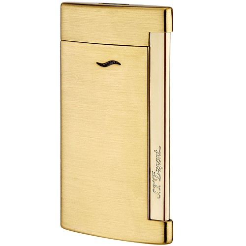 ST Dupont Slim 7 Lighter in Full Golden Brushed metal.