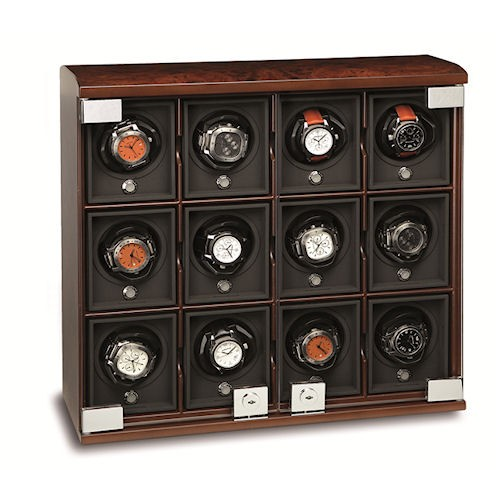 Underwood Briarwood Watch Winder - The Twelve-Module Unit