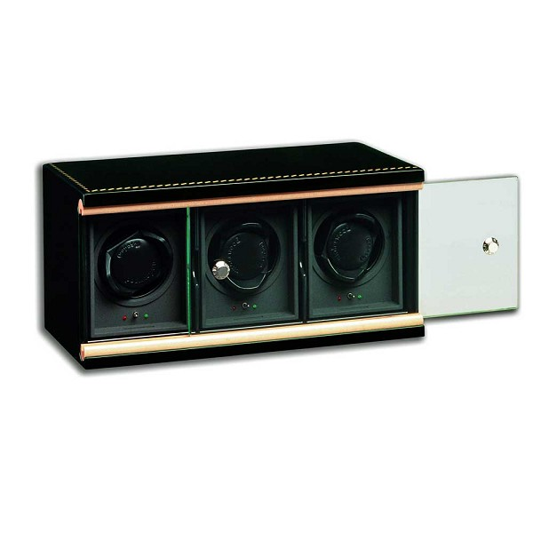 Underwood Black Lacquer Watch Winder - The Three-Module Unit
