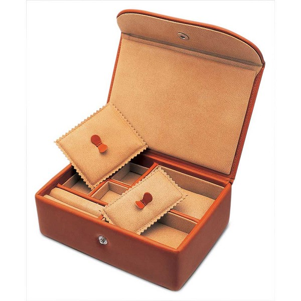 Underwood Single Luxury Watch and Jewelry Leather Travel Box - Small