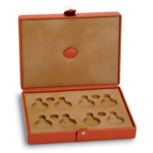 Underwood Leather Watch Case for 8 Pocket Watches are made with the finest vegetable tanned calf leather from Tuscany.