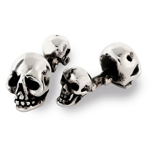 Limited Edition Skull Cufflilnks handmade in sterling silver.